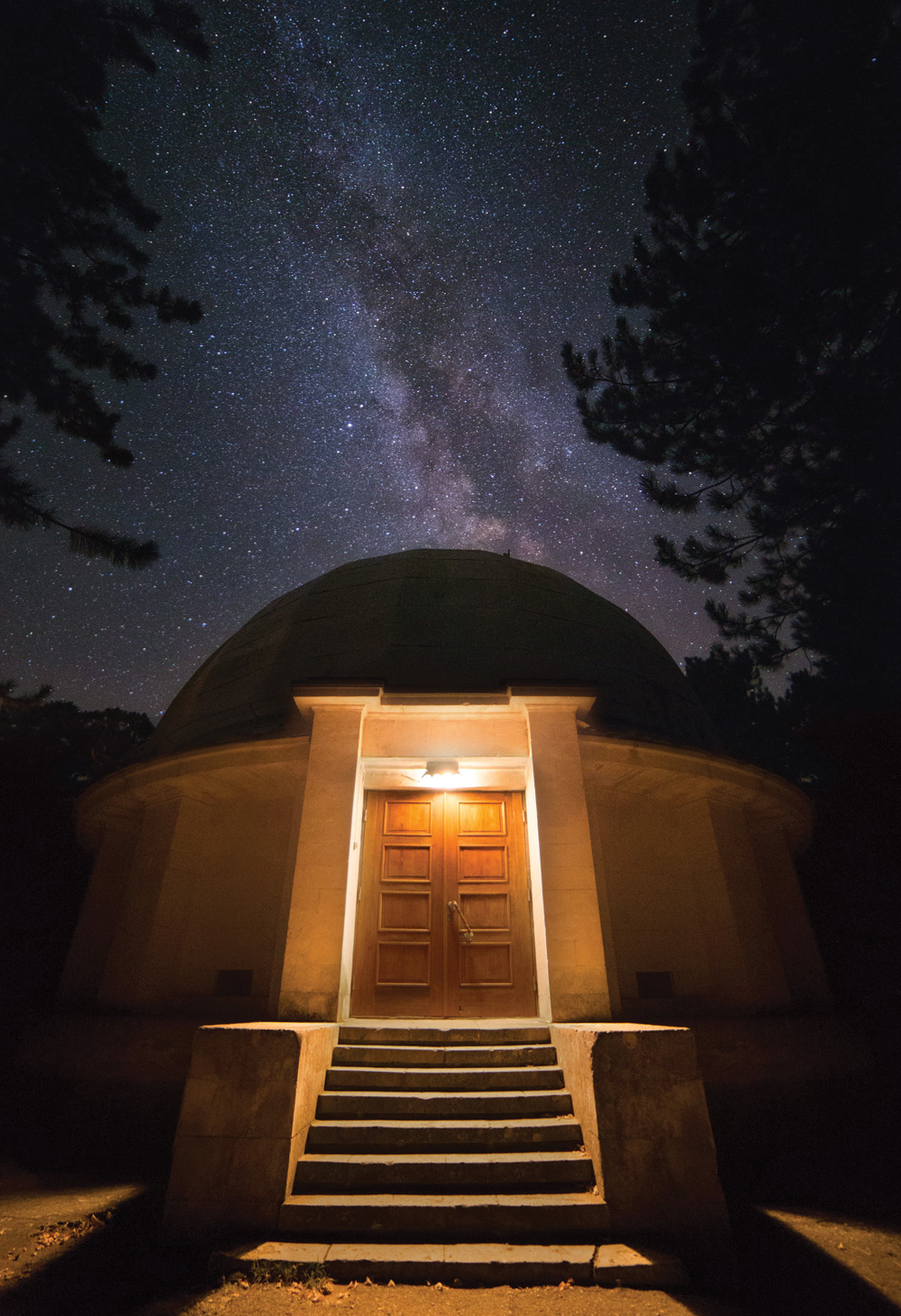 """I'm very fond of symbolic pictures, so when I walked at night around the Crimean Astronomical Observatory, I was looking for this particular frame."""